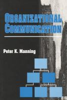 Cover image for Organizational communication