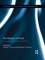 Cover image for The rhetoric of food discourse, materiality, and power