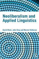 Cover image for Neoliberalism and applied linguistics