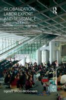 Cover image for Globalization, labor export and resistance a study of Filipino migrant domestic workers in global cities
