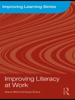 Cover image for Improving literacy at work