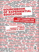 Cover image for Sourcebook of experiential education key thinkers and their contributions