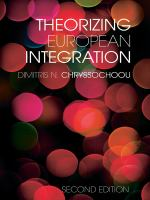 Cover image for Theorizing European integration