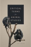Cover image for Critical terms for animal studies