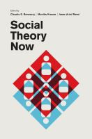 Cover image for Social theory now
