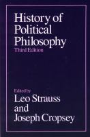 Cover image for History of political philosophy