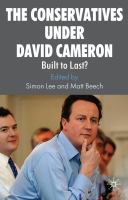 Cover image for The Conservatives under David Cameron Built to Last?