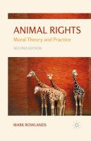 Cover image for Animal Rights Moral Theory and Practice