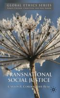 Cover image for Transnational Social Justice