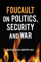 Cover image for Foucault on politics, security and war