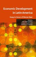 Cover image for Economic Development in Latin America Essay in Honor of Werner Baer