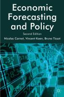 Cover image for Economic Forecasting and Policy