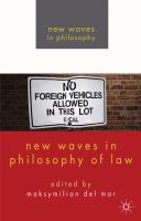 Cover image for New Waves in Philosophy of Law