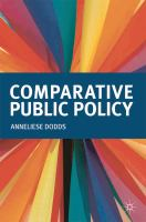 Cover image for Comparative public policy