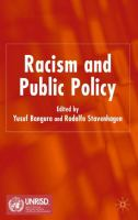 Cover image for Racism and Public Policy