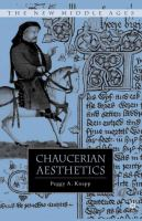Cover image for Chaucerian Aesthetics