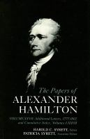 Cover image for The papers of Alexander Hamilton