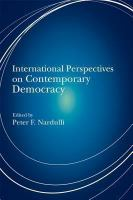 Cover image for International Perspectives on Contemporary Democracy