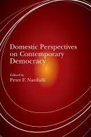 Cover image for Domestic Perspectives on Contemporary Democracy