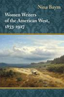 Cover image for Women writers of the American West, 1833-1927