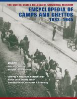 Cover image for The United States Holocaust Memorial Museum Encyclopedia of Camps and Ghettos, 1933-1945 Ghettos in German-Occupied Eastern Europe