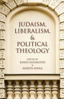 Cover image for Judaism, liberalism, and political theology
