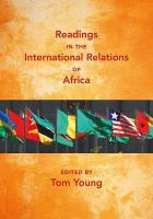 Cover image for Readings in the International Relations of Africa