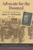 Cover image for Advocate for the Doomed The Diaries and Papers of James G. McDonald, 1932-1935