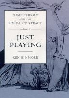 Cover image for Game theory and the social contract