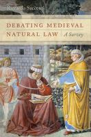 Cover image for Debating medieval natural law a survey
