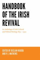 Cover image for Handbook of the Irish Revival An Anthology of Irish Cultural and Political Writings 1891–1922