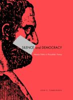 Cover image for Silence and democracy : Athenian politics in Thucydides' history