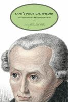 Cover image for Kant's political theory : interpretations and applications