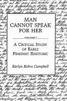 Cover image for Man cannot speak for her