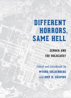 Cover image for Different horrors, same hell : gender and the Holocaust