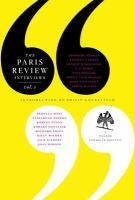 Cover image for The Paris review : Interviews