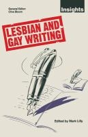 Cover image for Lesbian and gay writing : an anthology of critical essays