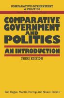Cover image for Comparative government and politics : an introduction