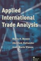 Cover image for Applied international trade analysis