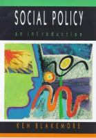 Cover image for Social policy : an introduction