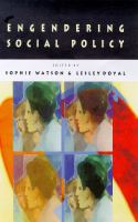 Cover image for Engendering social policy