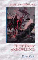 Cover image for The theory of knowledge