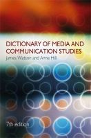 Cover image for Dictionary of media and communication studies