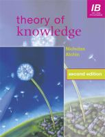 Cover image for Theory of knowledge