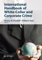 Cover image for International Handbook of White-Collar and Corporate Crime