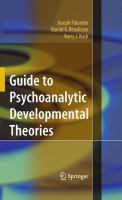 Cover image for Guide to Psychoanalytic Developmental Theories