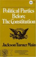 Cover image for Political parties before the Constitution.