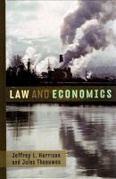 Cover image for Law and economics