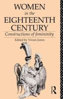 Cover image for Women in the eighteenth century : constructions of femininity