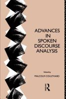 Cover image for Advances in spoken discourse analysis